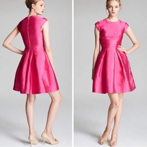 Kate Spade Vail Pink Silk Cap Sleeve Dress